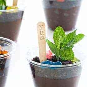 Oreo Dirt Cups are about the cutest thing you ever did make with your kid. And one of the easiest!