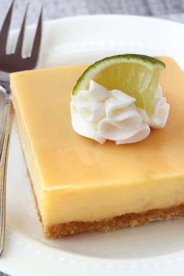 Key Lime Pie Bars have the tartness of limes on top of a sweet coconut crust. You won't be able to resist! Recipe contains a gluten-free option.