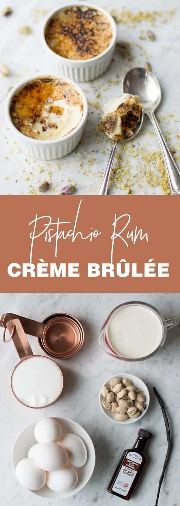 Pistachio Creme Brulee knocks ordinary creme brulee out of the park. A must try!