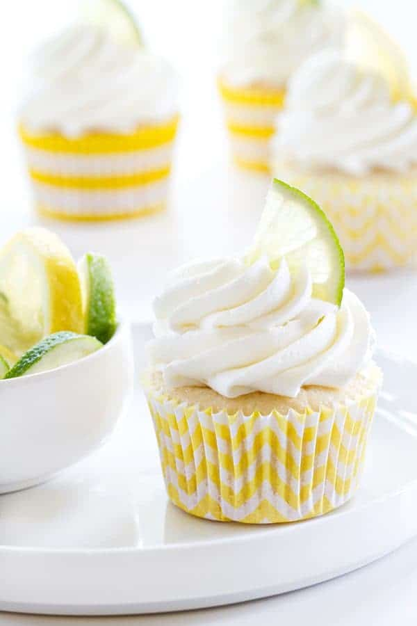Lemon Lime Cupcakes are perfect for a summer party. Refreshing with your favorite citrus flavors!