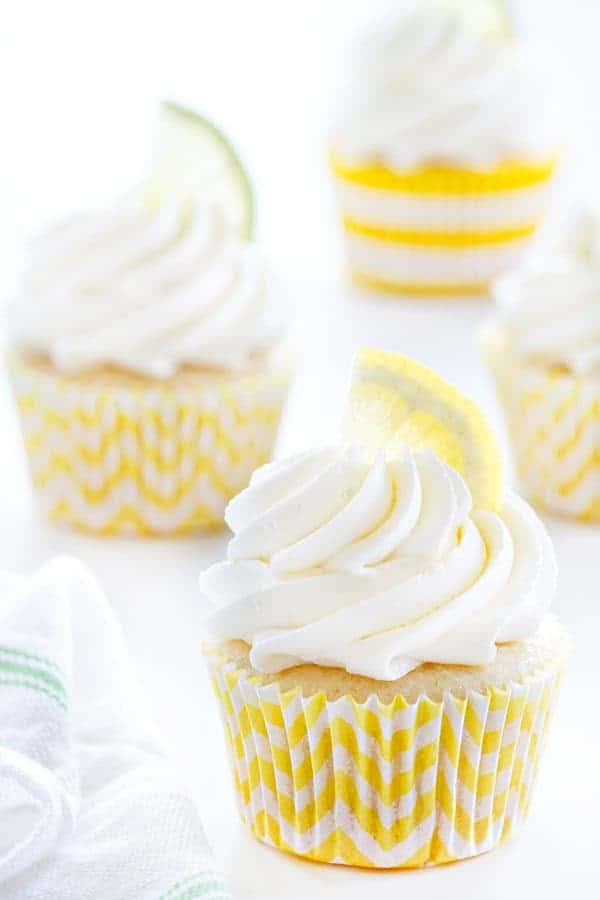 Lemon Lime Cupcakes have just the right amount of tart and sweetness. Delightful!