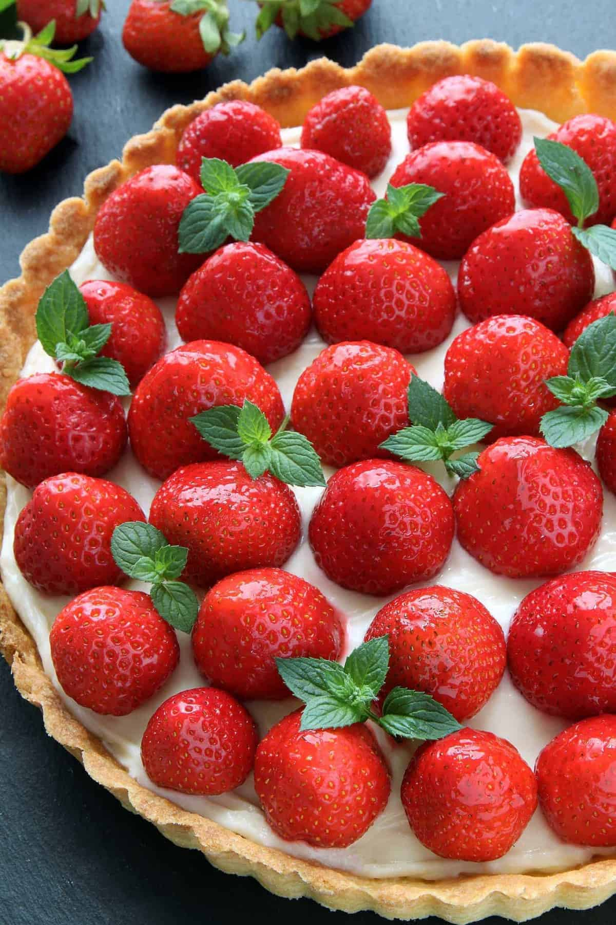 This Strawberry Cream Cheese Tart couldn't be easier or more delicious. Recipe contains a gluten-free option.