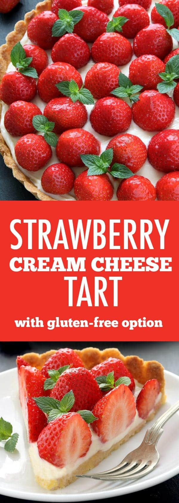 Strawberry Cream Cheese Tart is loaded with fresh summer berries and ...