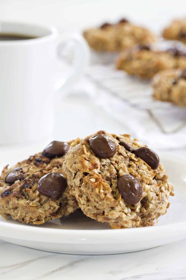 Chocolate Almond Breakfast Cookies are guaranteed to make your day sweeter. Enjoy with your morning coffee (dunking optional!).