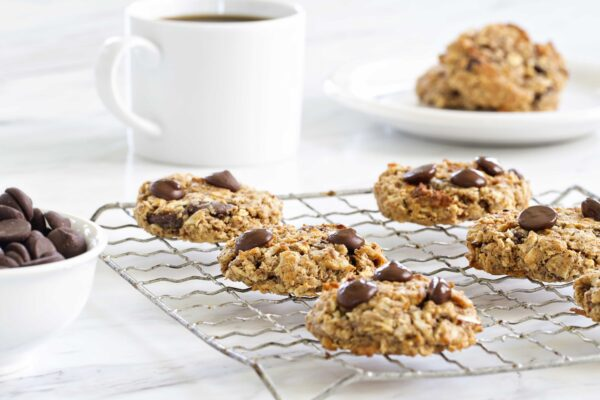 Chocolate Almond Breakfast Cookies have sweet dark chocolate and coconut. Now that's what I call breakfast!