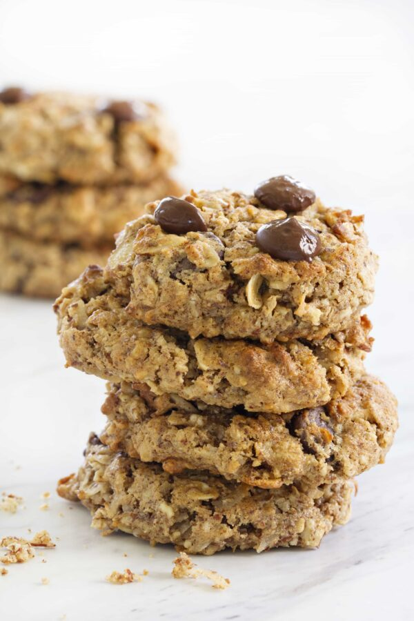 Chocolate Almond Breakfast Cookies have crunchy almonds throughout. Exactly the right texture.