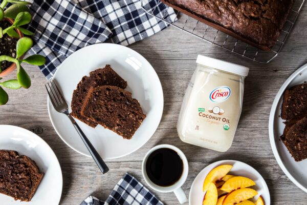 Chocolate Coconut Zucchini Bread is great for breakfast, or  a pick-me-up snack in the afternoon. Take some in to the office to share!
