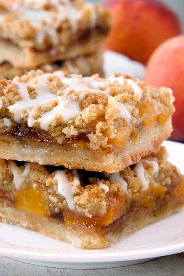 Peach Crumb Bars are topped with a sweet brown sugar crumble. Nothing ...