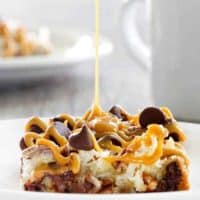 Coconut Caramel Pecan Cookie Bars are a quick and easy treat thanks to refrigerated cookie dough. Pecans, coconut and caramel make them irresistible.