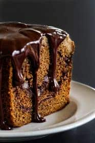 Mocha Coffee Cake has an espresso crumb topping with a Kalhua ganache. Each bite is heavenly!