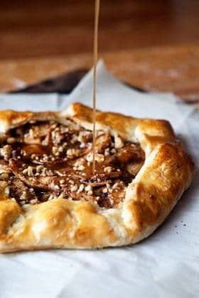 Cinnamon Apple Galette has a salted maple glaze drizzled right on top. So luxurious!