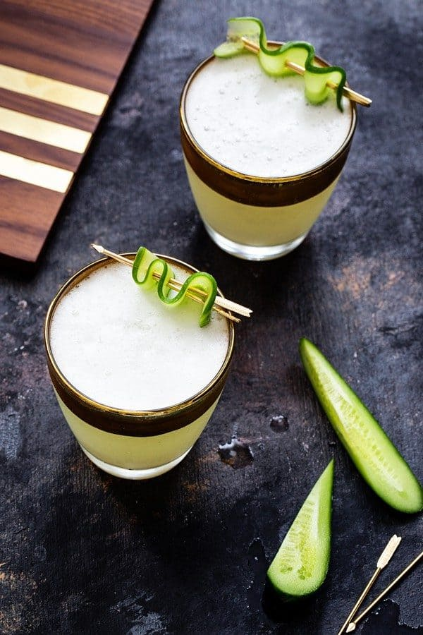 Cucumber Gin Fizz will get your party started. Make sure you have enough for another round!