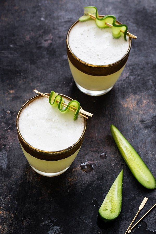 Cucumber Gin Fizz can be enjoyed before dinner or before the game begins. Serve with your favorite appetizers and snacks!