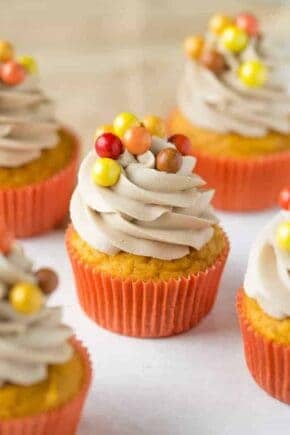 Pumpkin Maple Cupcakes are sweet and ultra amazing. A cupcake you'll come back to every year!