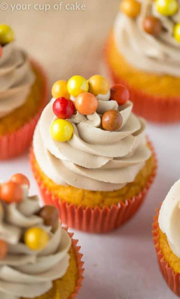 Pumpkin Maple Cupcakes are guaranteed to be the hit of your fall party. Everyone will love them!