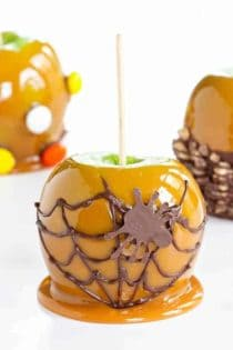 Caramel Apples are a sweet treat everyone loves this time of year. Make them extra special with a spiced twist. Perfect for Halloween!