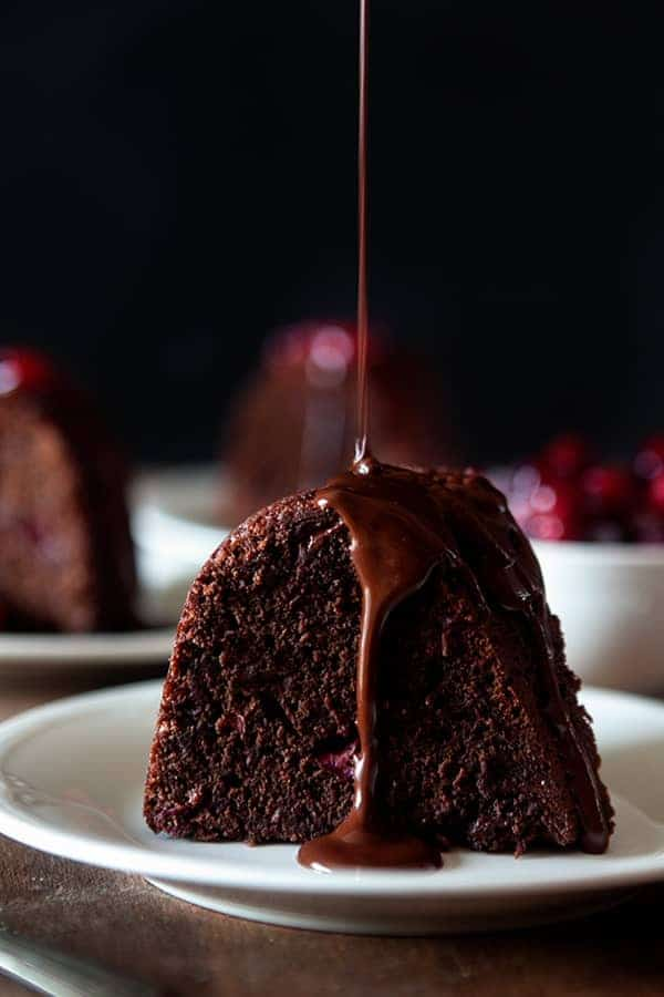 Dark Chocolate Cranberry Bundt Cake will complete any holiday meal. Perfection!