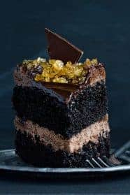 Double Chocolate Salted Caramel Cake will become your favorite decadent dessert. Sinfully amazing!