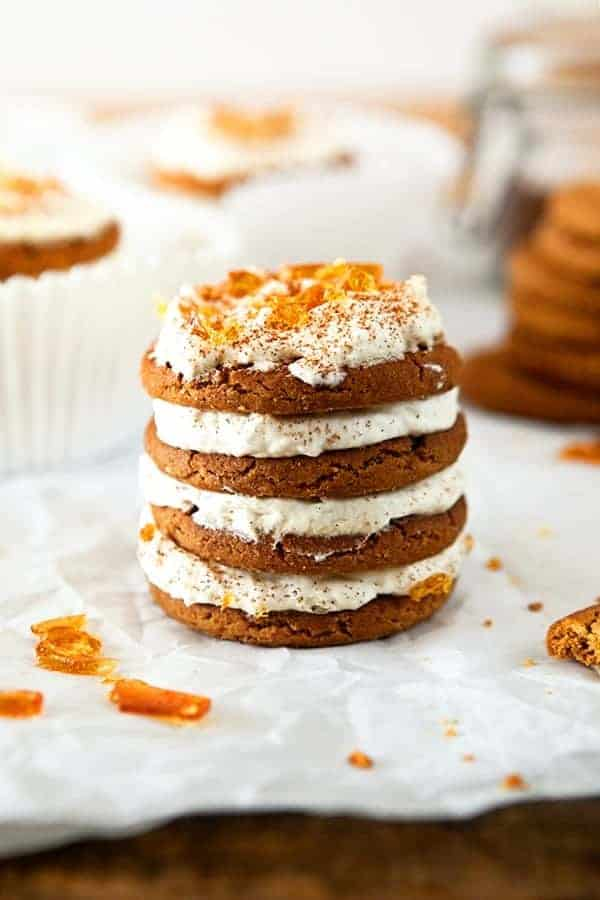 Gingerbread Icebox Cupcakes have a salted caramel sugar topping. Heavenly!
