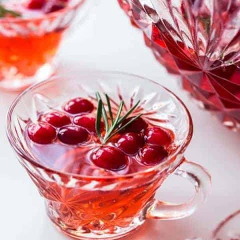Sparkling Cranberry Rosemary Punch
