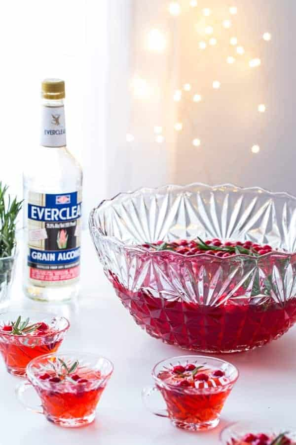 Sparkling Cranberry Rosemary Punch will elevate your holiday party to something truly special. So fun and festive!