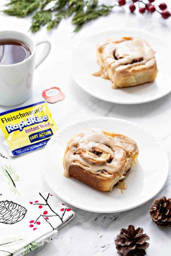 Overnight Toffee Cinnamon Rolls will make you even more happy it's Christmas morning. The make-ahead dough makes it possible!