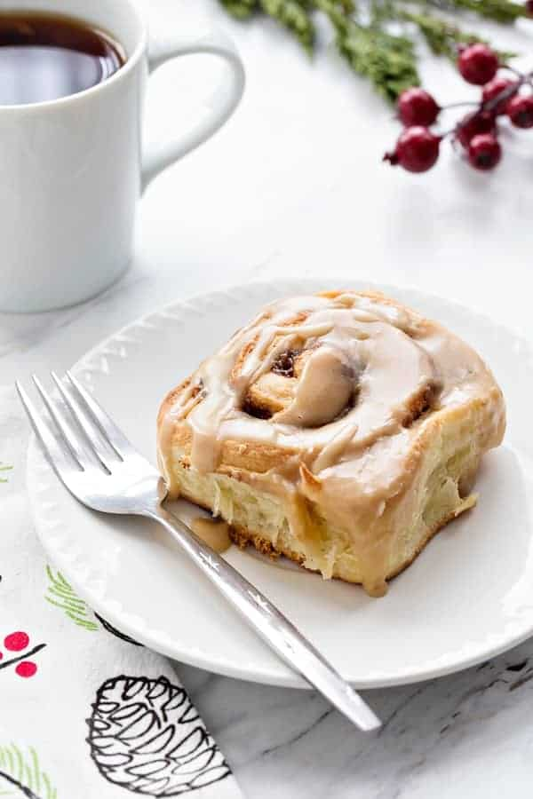 Overnight Toffee Cinnamon Rolls will make Christmas morning even more amazing! The make-ahead dough makes it possible!
