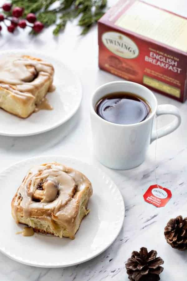 Overnight Toffee Cinnamon Rolls will make Christmas morning even more amazing! Make them the night before and pop them into the over while you're opening gifts. So easy!