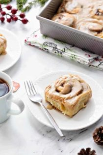Overnight Toffee Cinnamon Rolls will make Christmas morning even more amazing! No one will be able to resist a warm cinnamon roll fresh out of the oven!