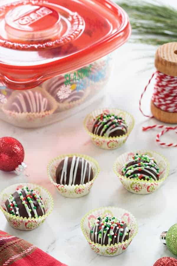 Chocolate Covered Peanut Butter Balls make a festive treat the whole family will love! You'll love making these as much as you love eating them!