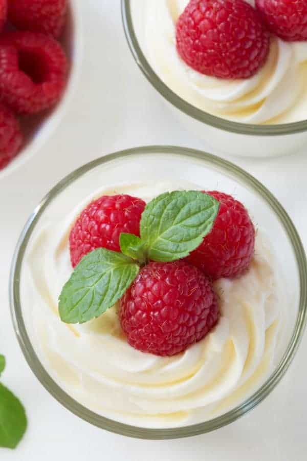 Easy white chocolate mousse made with cream cheese for an amazingly delicious treat that's perfect for Valentine's Day or any day! So delicious!