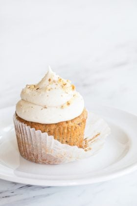 Banana Cupcakes with Cream Cheese Frosting have tender banana cake you'll love. The bananas make the cupcakes so delicious and moist!