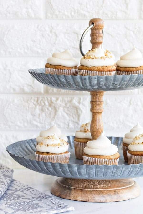 Banana Cupcakes with Cream Cheese Frosting have a decadent cream cheese frosting that pairs perfectly with the banana cake. You won't be able to stop at one!