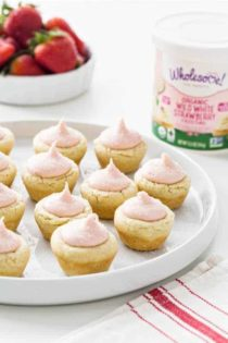 Lemon Sugar Cookie Cups with Strawberry Frosting are just about the cutest Easter sweet you could make. These cuties are sure to be the hit on your dessert table.
