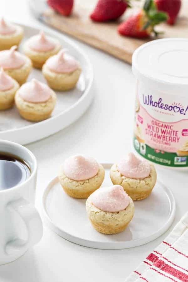 Lemon Sugar Cookie Cups with Strawberry Frosting are just about the cutest Easter sweet you could make.  So simple and delicious!