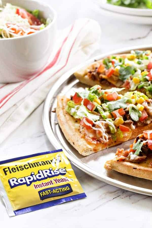 Taco Pizza Pie has everything you love about tacos. All on top of one pizza!