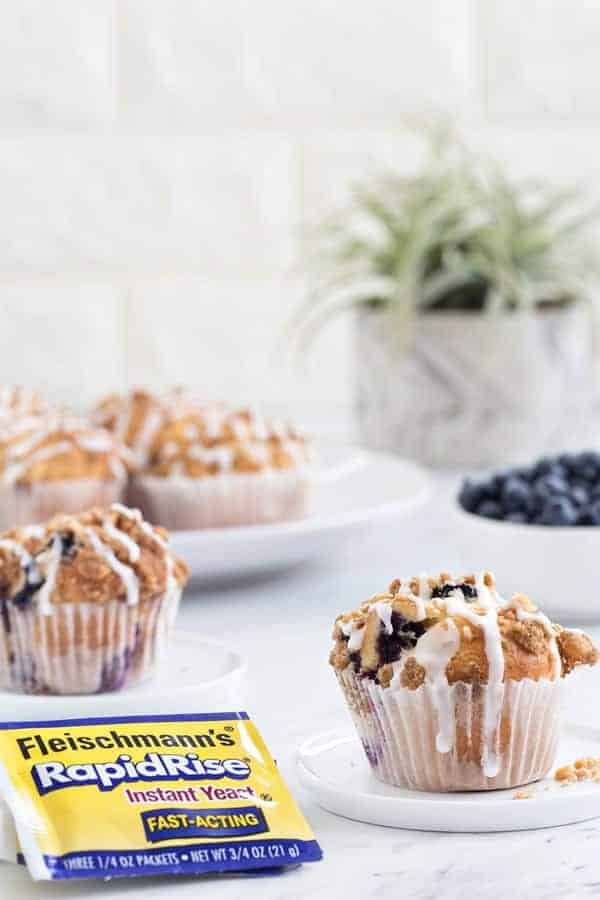 Blueberry Walnut Muffins rise high and mighty. They're perfect with your morning cup of coffee, or a midday snack!