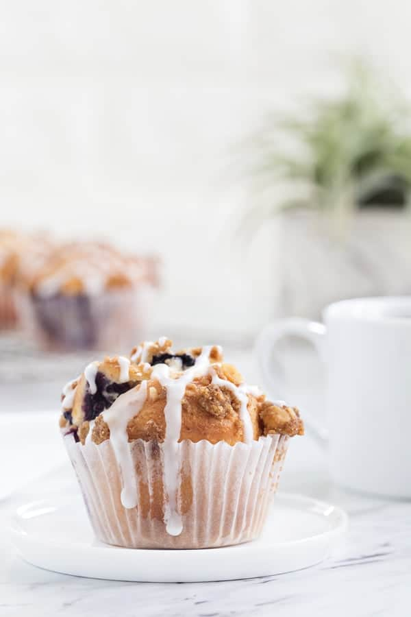 Blueberry Walnut Muffins rise high and mighty. They're perfect with your morning cup of coffee or for Sunday brunch!