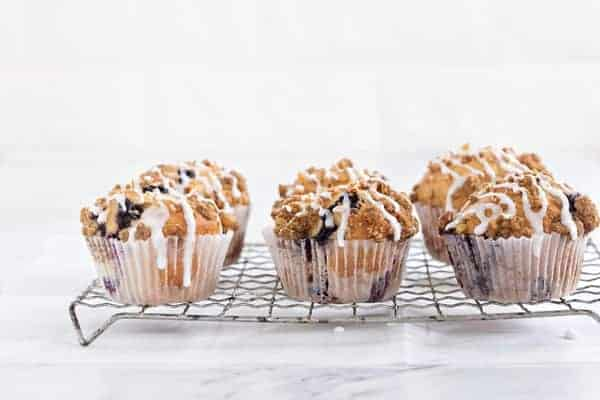 Blueberry Walnut Muffins rise high and mighty and they're perfect for breakfast.