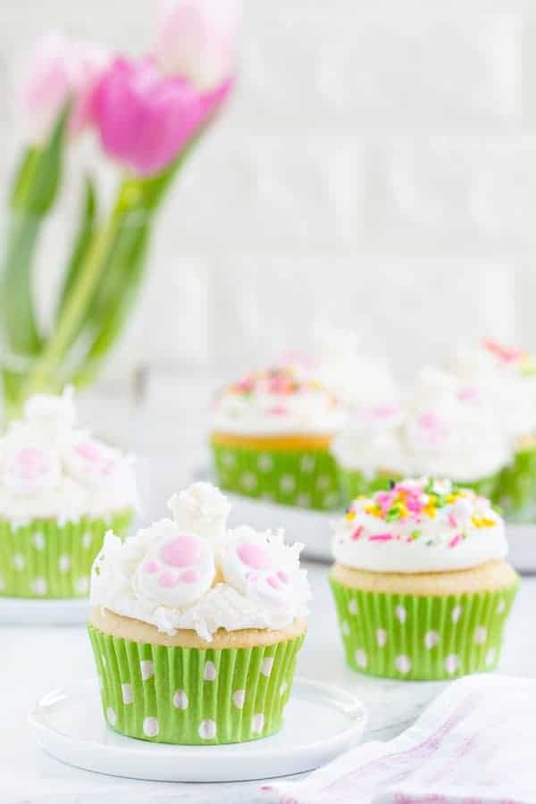 Bunny Butt Cupcakes are the perfect dessert for your Easter brunch. They're light, fluffy and totally adorable.