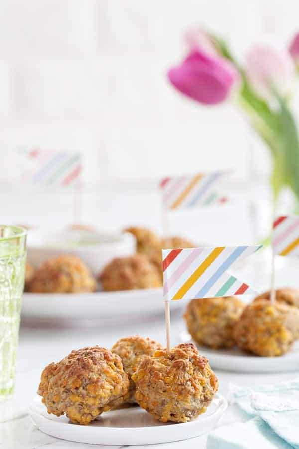 Sausage Cheese Balls are a brunch classic for any holiday. They're totally irresistible.