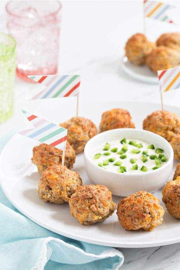 Sausage Cheese Balls are a brunch classic for Easter or even Christmas. I've made them special with the extra crunch from pecans, and spicy with jalapeño flavor.
