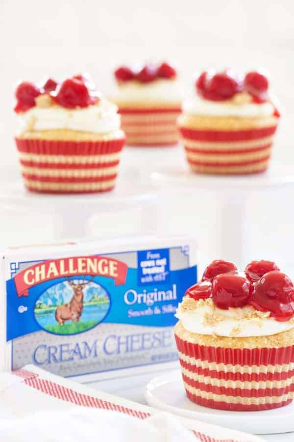 Cherry Cheesecake Cupcakes are the perfect dessert to celebrate summer. What could be better than cheesecake in cupcake form?