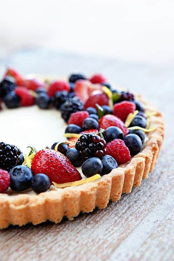 A Lemon Berry Mascarpone Tart is a simple, delicious way to show off all the season's best berries. A summer must-make!