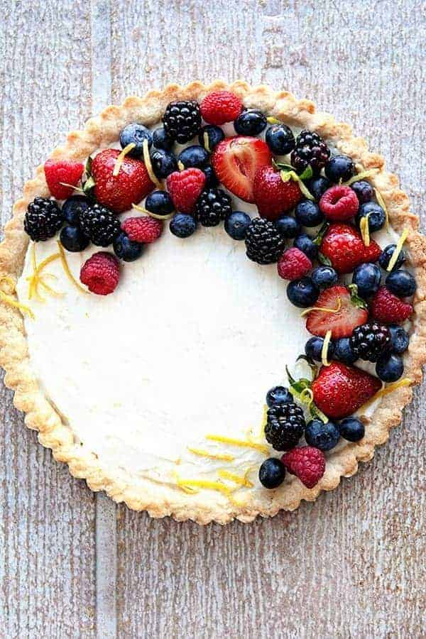 Lemon Berry Mascarpone Tart My Baking Addiction