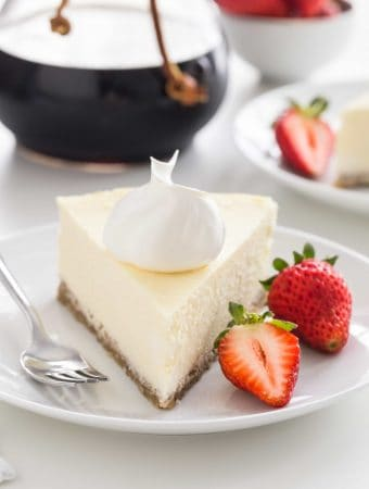 Low Carb Cheesecake has all the delicious flavor and creamy texture of traditional cheesecake without the added sugar. Perfect for anyone watching their sugar intake.