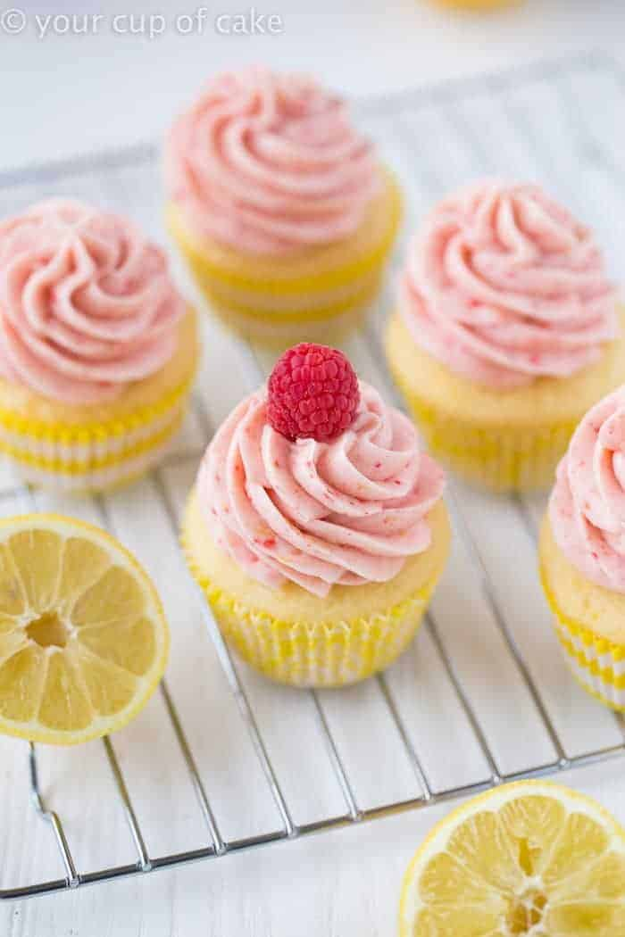Raspberry Lemonade Cupcakes are full of summer flavor, so they're the perfect dessert for your backyard barbecue.