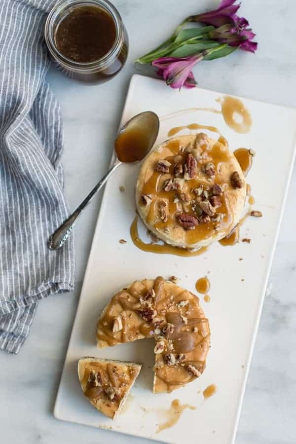 Salted Caramel Banana Cheesecake is a delicious combination of sweet and salty flavors. Bake them up in mini springform pans for perfect individual servings.