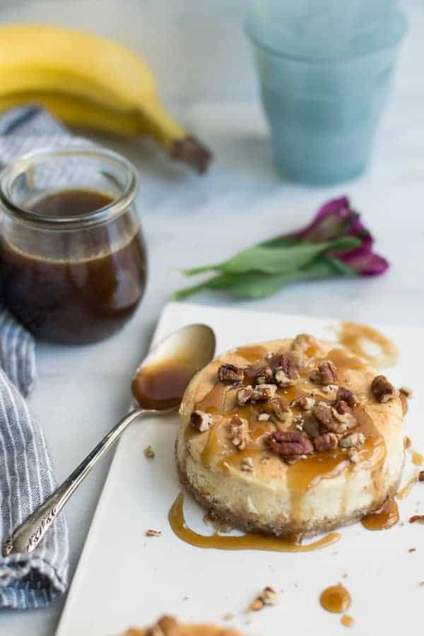 Salted Caramel Banana Cheesecake is a delicious combination of sweet and salty flavors. If you love cheesecake, this is a must-make!