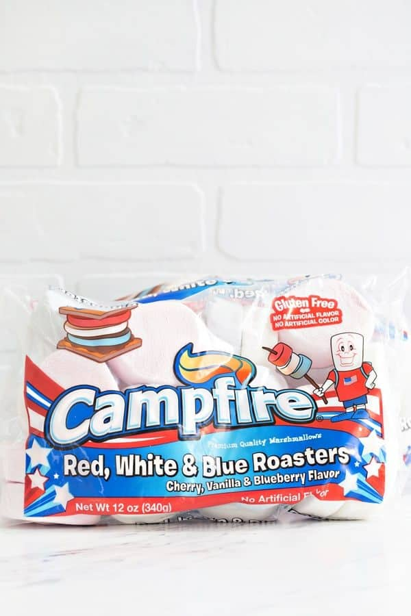 Campfire Marshmallows Red, White and Blue Roasters! So festive!